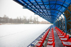 Stands in winter Stock Photography