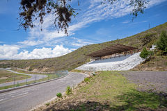 Stands of the Yahuarcocha car racing circuit Royalty Free Stock Images