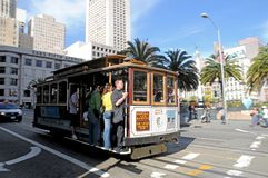 Standseilbahn in San Francisco Stockfotos