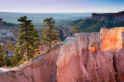 Standstone cliffs at sunrise in Bryce Canyon Stock Photo