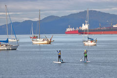 Standup Paddle Boarding on the West Coast Stock Photos