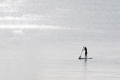 Standup paddle surfer girl Stock Photos