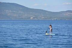 Standup paddleling Stock Photo