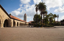 Stanford Courtyard Royalty Free Stock Photography