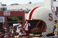 Stanford Float. Stanford football team float in the Rose Parade Stock Photography