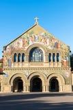 Stanford Memorial Church på den huvudsakliga kvadraten av universitetet Arkivbilder
