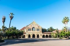 Stanford Memorial Church på den huvudsakliga kvadraten av universitetet Royaltyfria Foton
