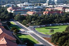 Stanford Oval from Above. Horizontal Royalty Free Stock Photography