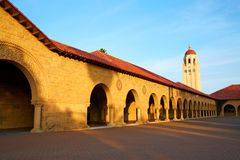 Stanford Univercity sunset royalty free stock photos