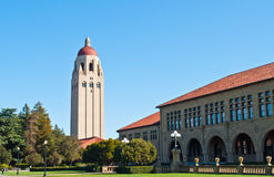 Stanford-universitettorn Royaltyfri Bild