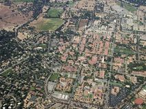 Stanford university. Bird-eye view of Stanford university, California, U.S.A royalty free stock photography