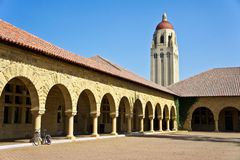 Stanford University. Hoover Tower, landmark of the campus of Stanford University Royalty Free Stock Images