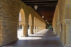 Stanford University. The beautiful campus of Stanford University in Palo Alto, California Stock Image