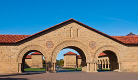 Stanford university. Arched stonework on the Stanford campus stock photos