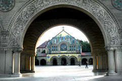 Stanford University Arch. Stanford University - arch and fresco Royalty Free Stock Images