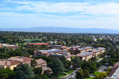 Stanford University Campus Aerial Photo stock