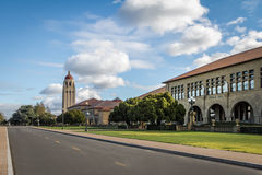Stanford University Campus and Hoover Tower - Palo Alto, California, USA Royalty Free Stock Image