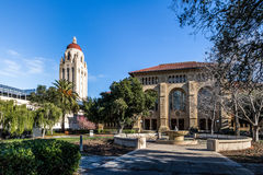 Stanford University Campus and Hoover Tower - Palo Alto, California, USA Royalty Free Stock Images