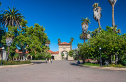 Stanford University Campus in Palo Alto, Californië stock fotografie