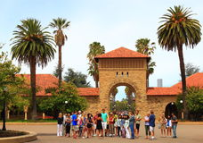 College Campus Tour Stock Image