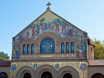 Stanford university church. The front of the church on the Stanford campus Stock Photo