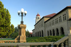 Stanford University Lamps. Stanford University building with lamps and tower stock photography
