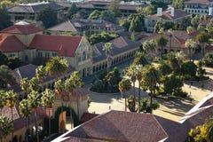 Stanford University Main Quad de cima de imagens de stock