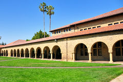 Stanford University in Palo Alto. Building at the main entrance to Stanford University Campus , Palo Alto, California Stock Photos