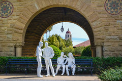 Stanford University. Sculpture at Stanford University. Stanford University is located in Stanford, CA stock images