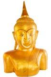 Stange Buddha statue isolated on white at Pratong temple, Phuket, Thailand Stock Photography
