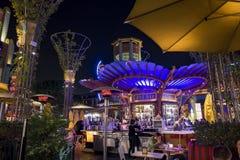 Stange im berühmten im Stadtzentrum gelegenen Disney-Bezirk, Disneyland Resort Stockbild