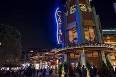 Stange im berühmten im Stadtzentrum gelegenen Disney-Bezirk, Disneyland Resort Stockfotos