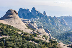 Stange rock formations in Montserrat Mountain, Spain Stock Photography