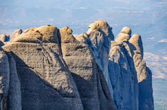 Stange rock formations in Montserrat Mountain, Spain Royalty Free Stock Photo
