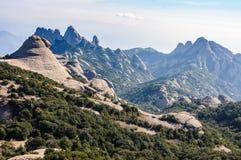 Stange rock formations in Montserrat Mountain, Spain Stock Photo
