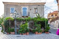 Stange Vitelli in Savoca Forza-d'Agro, Italien Stockfotos