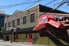 Stangen auf George Street in ` s, Neufundland, Kanada Johannes Stockbild
