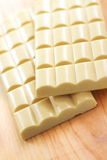 Stangen der weißen porösen Schokolade Lizenzfreie Stockfotos