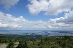 Stangen-Hafen Maine, Cadillac-Berg, Acadia-Nationalpark Lizenzfreie Stockbilder