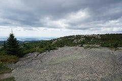 Stangen-Hafen Maine, Cadillac-Berg, Acadia-Nationalpark Lizenzfreies Stockbild