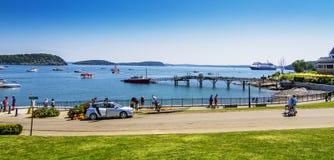 Stangen-Hafenpanorama Stockfotografie
