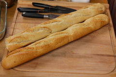 Stangenbrot des französischen Brotes Lizenzfreie Stockfotos