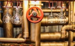 Stangenzähler im Stil des steampunk lizenzfreies stockbild