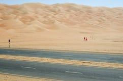 Stangers en el desierto de Liwa Imagen de archivo