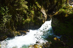 Stanghe瀑布,特伦托自治省女低音阿迪杰,意大利 图库摄影