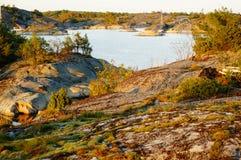 Stangnes fjord, Norge Arkivfoto