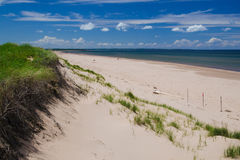 Stanhope beach, PEI. Sand dunes and beach at Stanhope, in Prince Edward Island national park Stock Photo