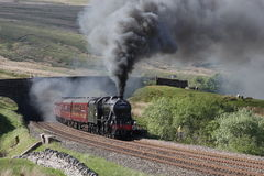 Stanier 8F at Ais Gill Stock Photography