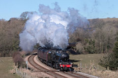 Steam engine at Wennington with special train. Stock Images