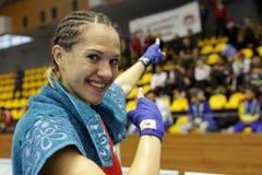 Stanimira彼得罗瓦拳击手 免版税库存图片